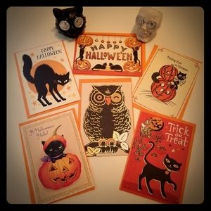 🎃 Halloween Bundle! Vintage Inspired Cards Lights